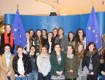 Coláiste Íde puts some tough questions to MEP Deirdre Clune in the European Parliament