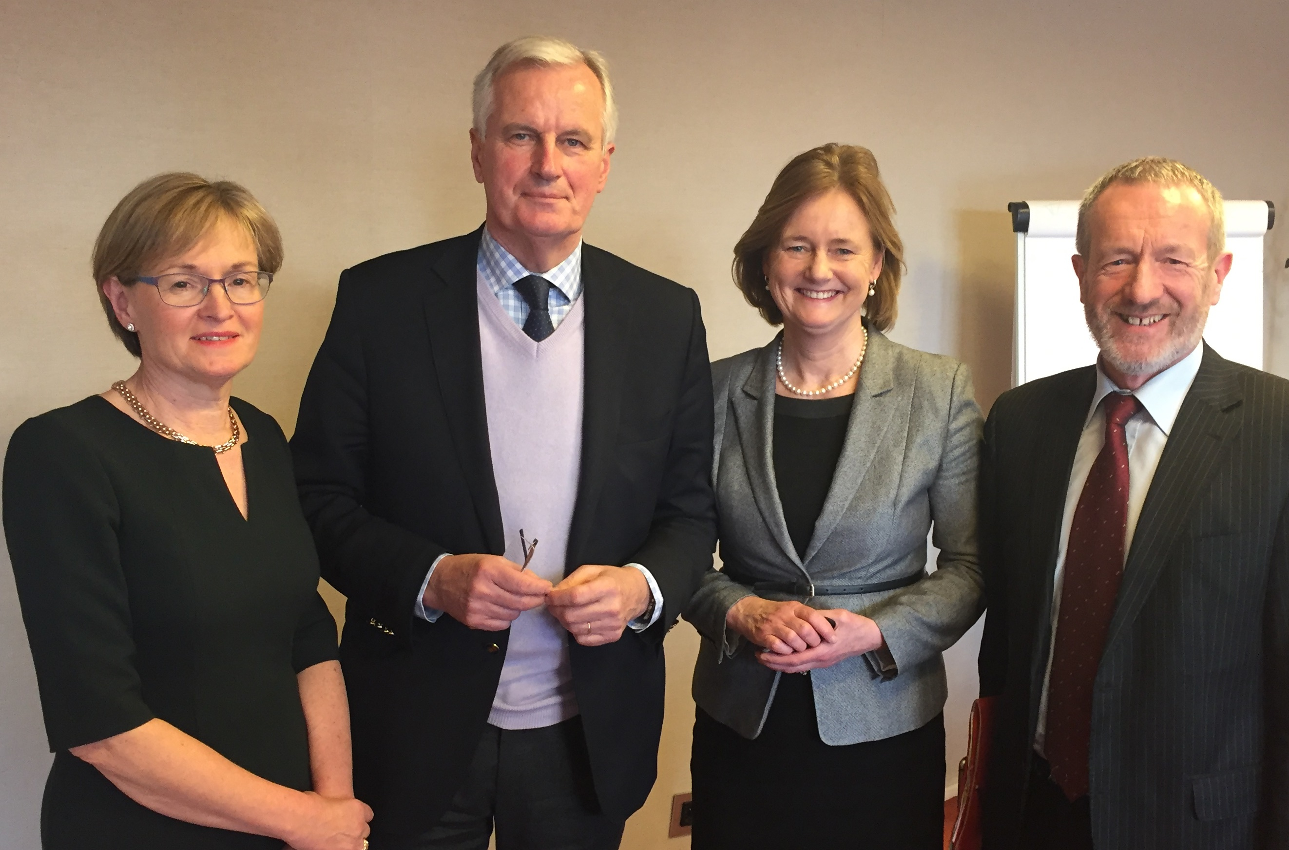 With Michel Barnier and Mairead McGuinness MEP