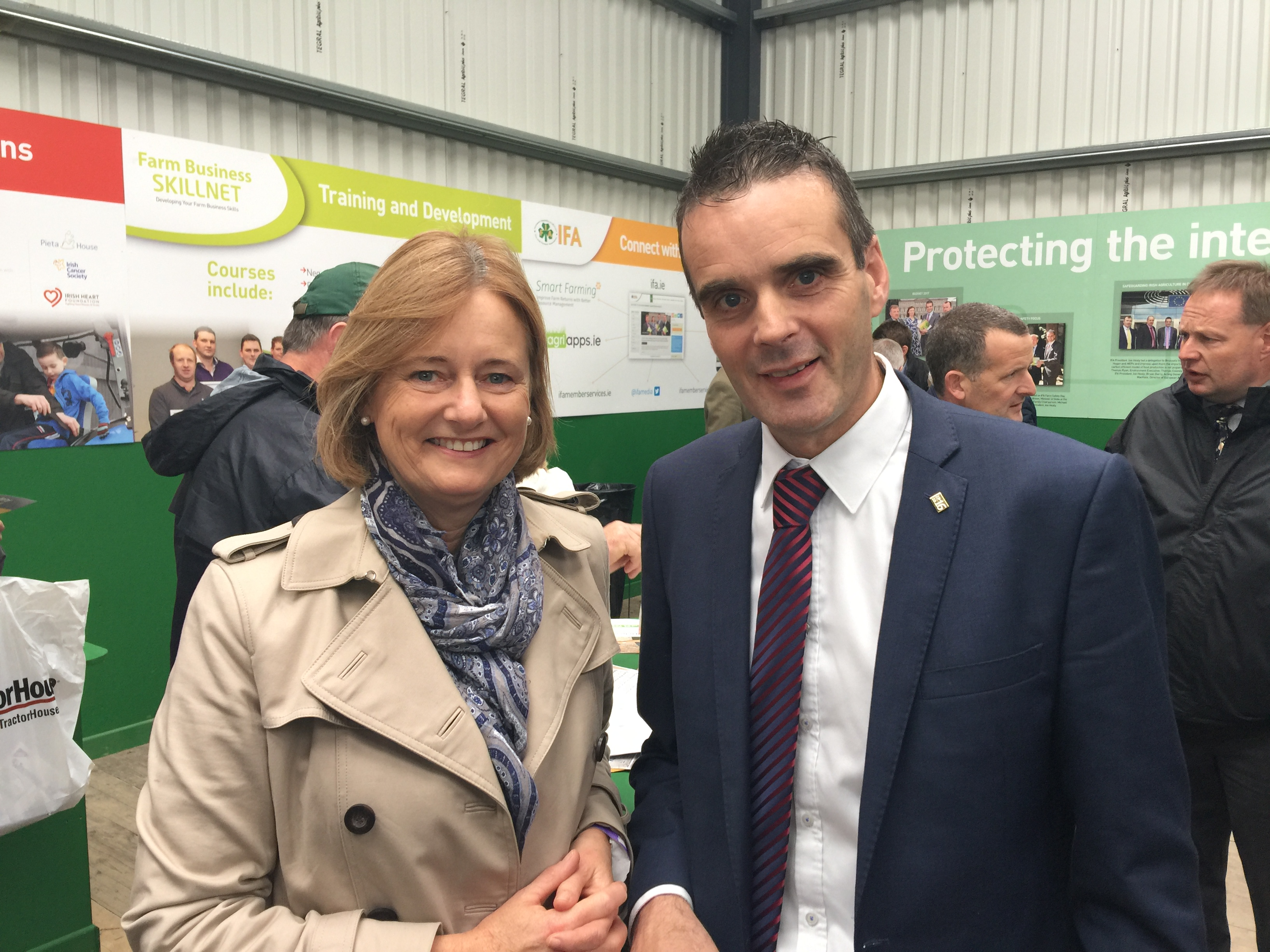 Catching up with Joe Healy, President of the IFA at the Ploughing Championships in Screggan, Co. Offaly.