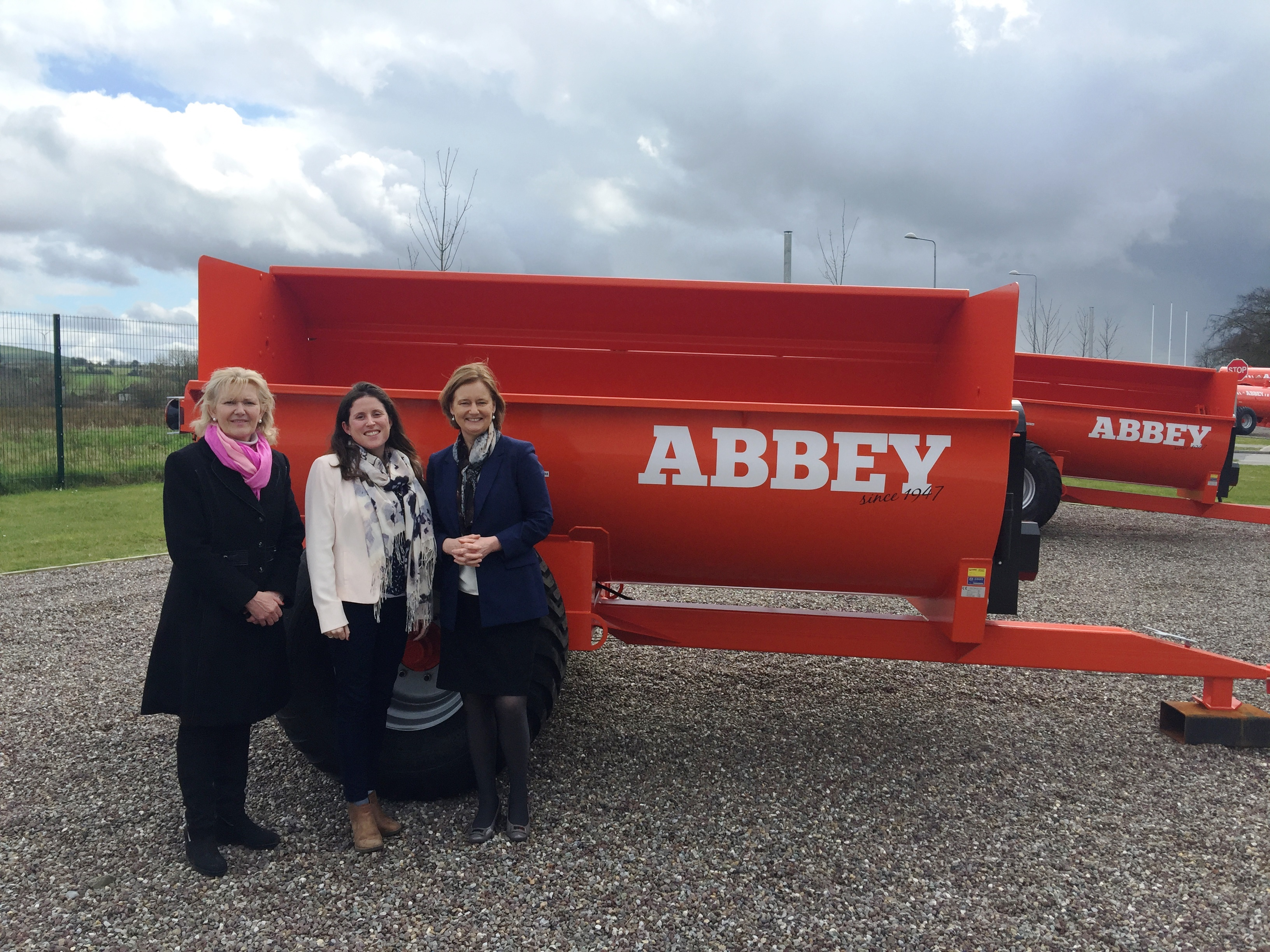 Visiting Abbey Machinery in Thurles, with Cllr Phyll Bugler